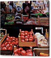Fresh Fruits And Vegetables Canvas Print
