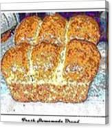 Fresh Homemade Bread 2 Canvas Print