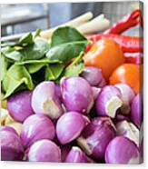 Fresh Ingredients For Cooking Chicken Curry Sauce Closeup Canvas Print