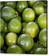Fresh Limes On A Street Fair In Brazil Canvas Print