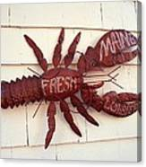 Fresh Maine Lobster Sign Boothbay Harbor Maine Canvas Print