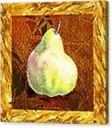 Fresh N Happy Pear Decorative Collage Canvas Print