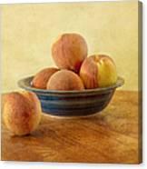 Fresh Peaches Canvas Print