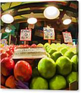 Fresh Pike Place Apples Canvas Print