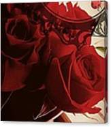 Fresh Red Roses Canvas Print