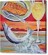 Fresh Salmon Dinner Canvas Print