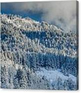Fresh Snow On The Mountain Canvas Print