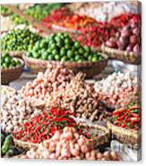 Fresh Vegetables At Local Market Canvas Print