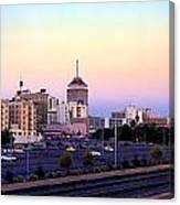 Fresno Skyline Into The Evening Canvas Print
