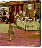Fresno Urban Farmers Market  Canvas Print
