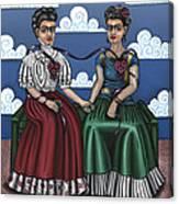 Frida Beside Myself Canvas Print