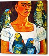 Frida In Tlaquepaque Canvas Print