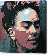 Frida Kahlo In Colour Canvas Print