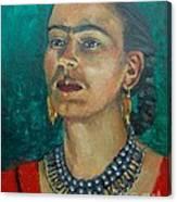 Frida Teal Canvas Print