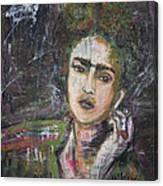 Frida Y Cigarrillos Canvas Print