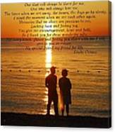 Friend For Life Poem Canvas Print