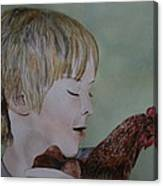 Friendly Chicken Canvas Print