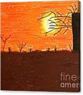 Friendly Sunset Canvas Print