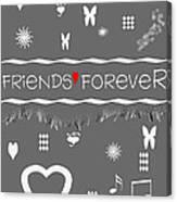 Friends Forever Valentine Canvas Print