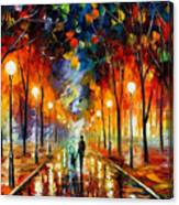 Friendship - Palette Knife Oil Painting On Canvas By Leonid Afremov Canvas Print