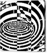 Frisbee Toss Maze  Canvas Print