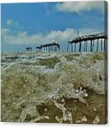 Frisco Pier Water Level View 1 5/24  Canvas Print
