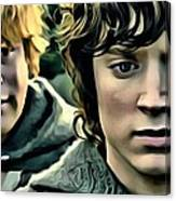 Frodo And Samwise Canvas Print