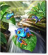 Frog Capades Canvas Print