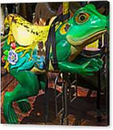 Frog Carrousel Ride Canvas Print