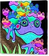 Frog Family Too Canvas Print