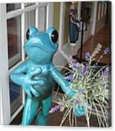 Frog Suitor Canvas Print