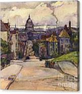 From A Hilltop In San Francisco By  Rowena Meeks Abdy Early California Artist C 1906 Canvas Print