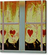 From French Riviera Window With Love Canvas Print