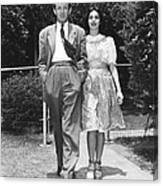 From Left, Spouses Robert Walker Canvas Print