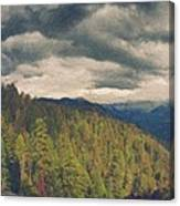 From Moro Rock Of The Sequoias Canvas Print