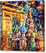 From Moscow To Paris Canvas Print