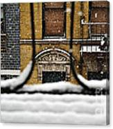 From My Fire Escape - Arches In The Snow Canvas Print