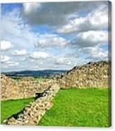 From The Castle To The Hills  Canvas Print