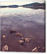 From The Depth Of Silence. Ladoga Lake  Canvas Print