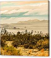 From Top Of The Mountain At Joshua Tree National Park Canvas Print