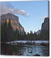 From Valley View At Sunset Canvas Print