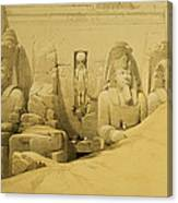 Front Elevation Of The Great Temple Of Aboo Simbel Canvas Print
