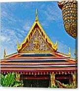 Front Of Royal Temple At Grand Palace Of Thailand In Bangkok Canvas Print