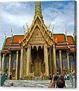 Front Of Thai-khmer Pagoda At Grand Palace Of Thailand In Bangkok Canvas Print
