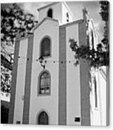 front of the church in Los Banquitos Tenerife Canary Islands Spain Canvas Print