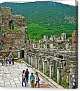 Front Of Theater In Ephesus-turkey Canvas Print
