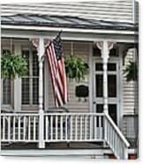 Front Porch Flag Canvas Print