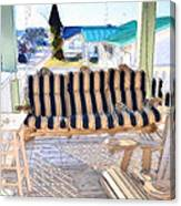Front Porch On An Old Country House  3 Canvas Print