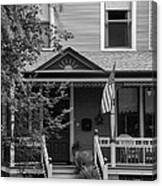 Front Porch Usa Black And White Canvas Print