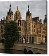 Front View Of Palace Schwerin Canvas Print